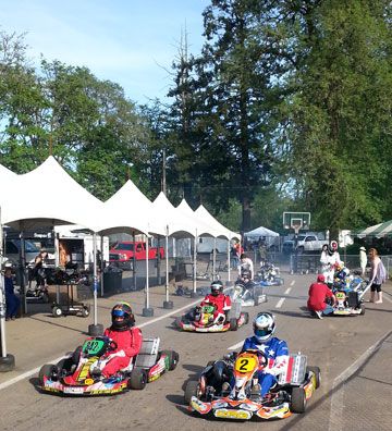 Shifter Kart racing in the Northwest